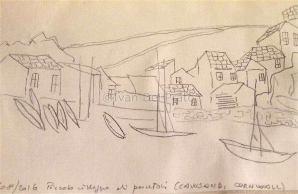 Piccolo villaggio di pescatori (Cawsand, Cornwall)